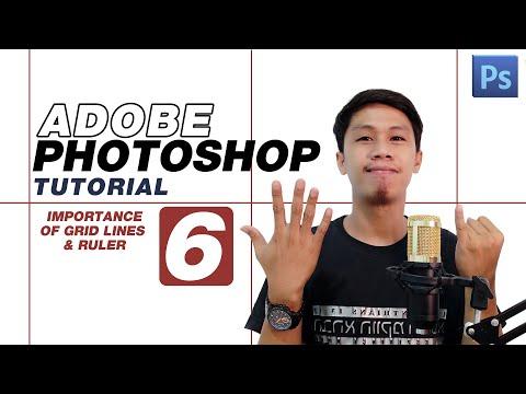 Adobe Photoshop Part 6 - Grid Lines & Ruler Tutorial