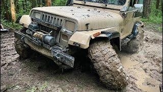 Трехколесный Jeep Wrangler, эвакуация!