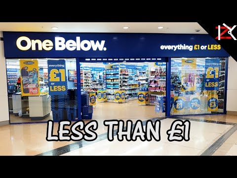NEW £1 STORE! - One Below Discount Store Everything Is £1 Or LESS | Price Comparison