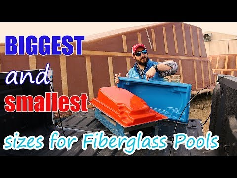 Biggest and Smallest Sizes for Fiberglass Swimming Pools