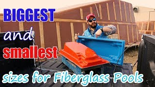 Gambar cover Biggest and Smallest Sizes for Fiberglass Swimming Pools