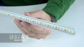 How to mount LED strip to aluminium profile and how to achieve linear effect