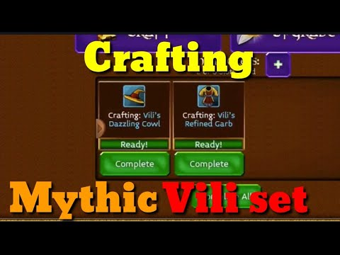 Arcane Legends/ Crafting Vili Set And Teaching You How To Do That. (Crafting Mythic Set Lv36 Vanity)