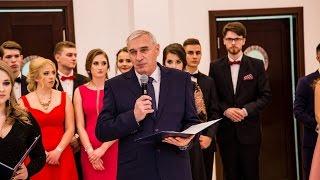 Wystąpienie dyrektora LO im. M. Kopernika na studniówce (21.01.2017)