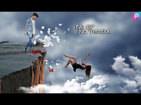 No gf No Tension manipulation pics art edit || Freedome || PicsArt  edit tutorail public