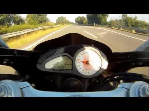 Howling MV Agusta F4 1000R 293 km/h on Autobahn