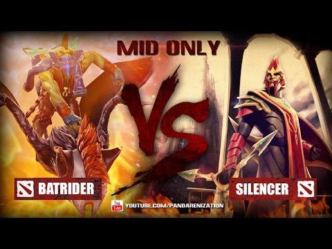 видео: batrider vs silencer [Битва героев mid only] dota 2