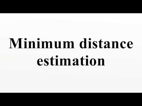 Minimum distance estimation