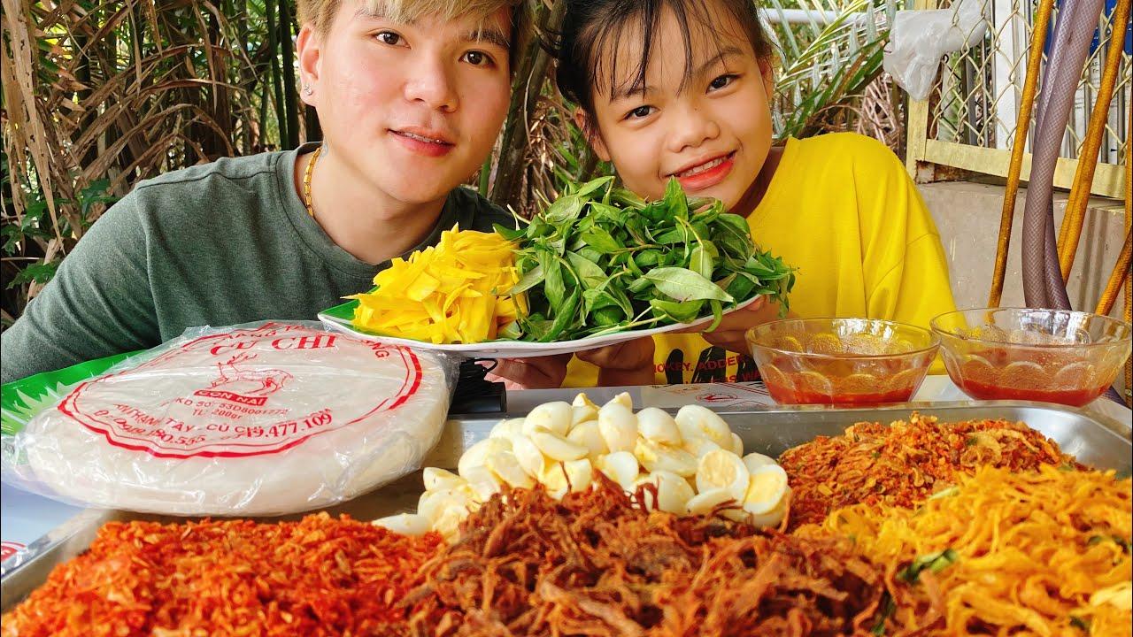 Mâm Bánh Tráng Cuốn Khổng Lồ | Making Vietnamese Giant Rice Paper Rolls – Vlog #32