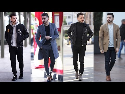 4 Easy Winter Outfits for Men | Men's Winter Lookbook | Men's Fashion | Alex Costa