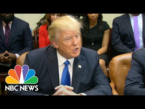 President Donald Trump Meets With African American Leaders At White House | NBC News