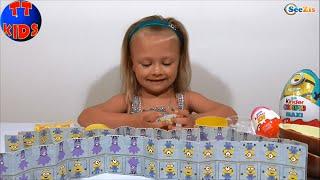 Миньоны Игрушки Видео для детей Маленькая девочка Ярослава Minions toys Unboxing Серия 9