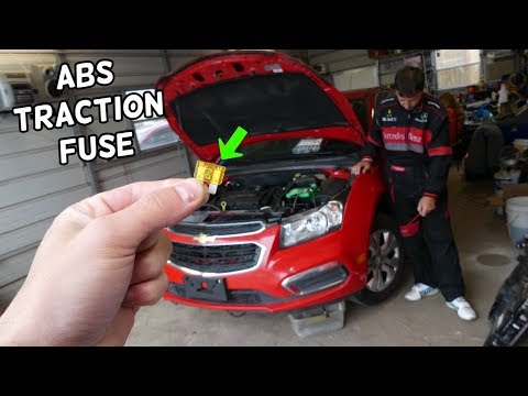 CHEVROLET CRUZE ABS PUMP MODULE FUSE LOCATION REPLACEMENT. ABS LIGHT ON TRACTION LIGHT ON