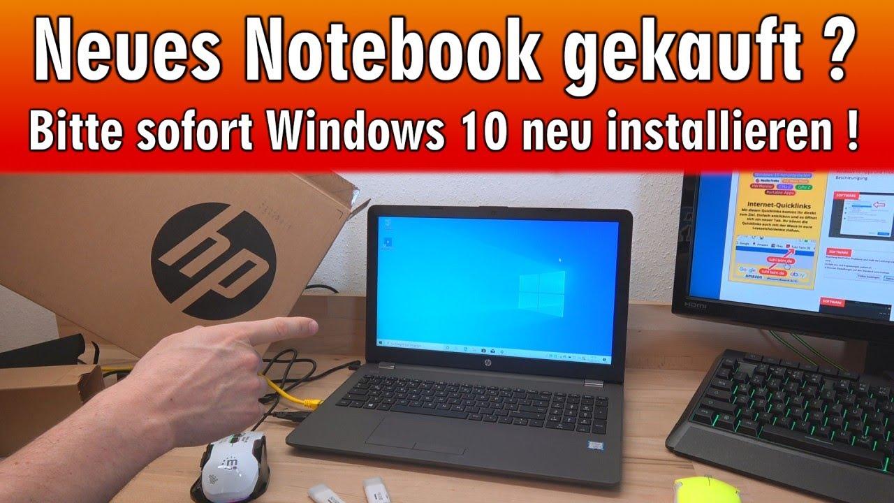 Neues Notebook gekauft ❓ Sofort Windows 8 neu installieren und schneller  machen 👍