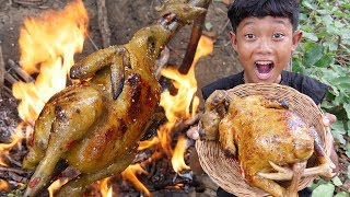 Survival Skills - Yummy cooking big chicken and eating delicious Ep26