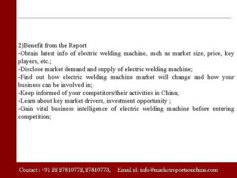 Market Of Electric Welding Machine