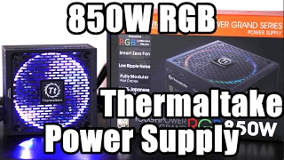 Thermaltake Toughpower Grand RGB 850W Smart Zero Fan unboxing and first look