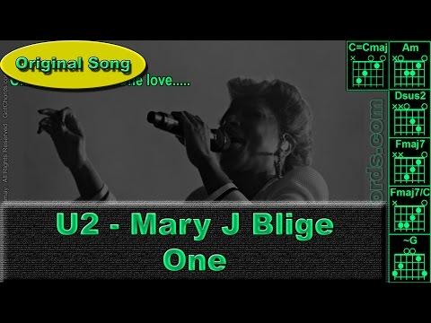 U2 - Mary J Blige - One - Original - Guitar Chords (0005-A2)