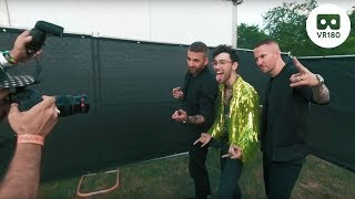 Galantis Talks About Collab with Max Schneider at Lollapalooza 2018 | VR 180 thumbnail