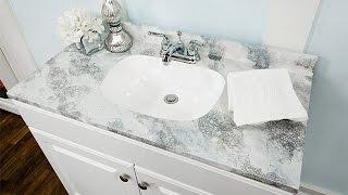 How To - Ken Wingard's DIY Faux Marble Countertop - Hallmark Channel