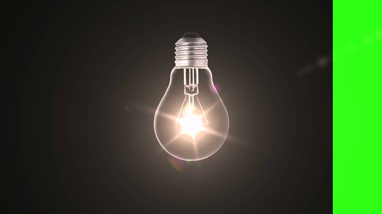 Light Bulb on - Green Screen Animation - YouTube for Light Bulb Animated Gif  110yll
