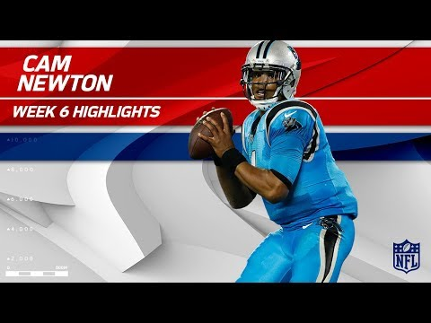 Cam Newton's 2 TDs & 310 Total Yards!   Eagles vs. Panthers   Wk 6 Player Highlights