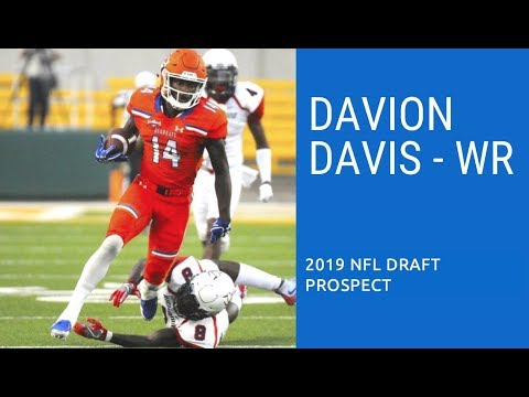 the latest 8c720 54172 Davion Davis, WR, Sam Houston State | 2019 NFL Draft Prospect | Official  Highlights