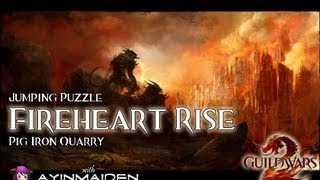 ★ Guild Wars 2 ★ - Jumping Puzzle - Fireheart Rise (Pig Iron Quarry)