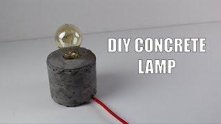 DIY Contrete Lamp/ Luminaria no concreto