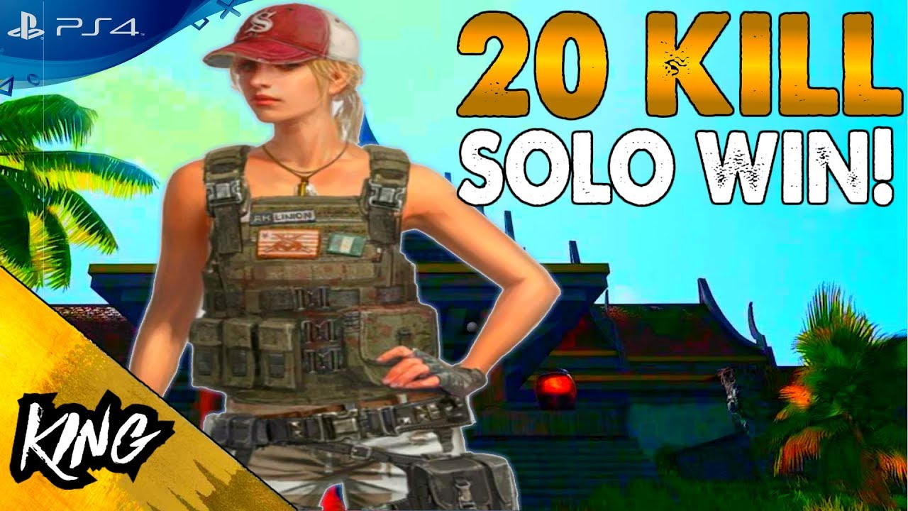 Pubg Ps4 Pro Hdr: INSANE 20 KILL SOLO WIN! PUBG PS4 GAMEPLAY (PS4 PRO)