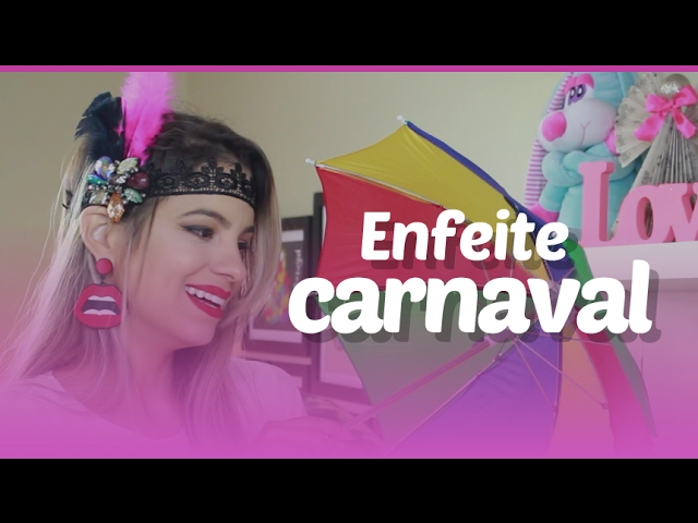 Como fazer enfeite de cabelo para o carnaval por Patr├Гcia Braga