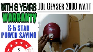 10 L Geyser 2000 Watt Unboxing & Full Review in Hindi | Water Heater | Usha Aquagenie Geyser