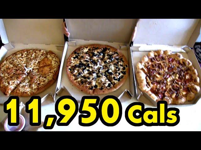 Pizza Hut S 49 Superbowl Deal Challenge 12 000 Calories Youtube