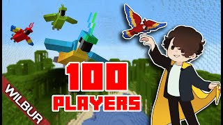 Minecraft 100 Player Bird Cage