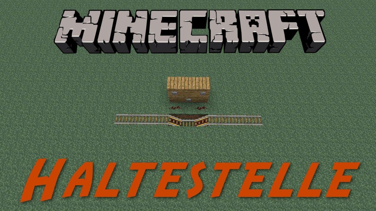 MINECRAFT Tutorial Minecart Haltestelle DeutschHD YouTube - Minecraft dorfbewohner bauen hauser mod