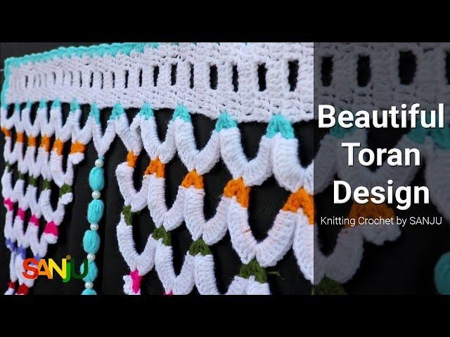 Easy and simple door hanging Toran design | Crochet Toran in hindi