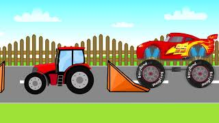Monster Truck 126p? Stunts | Cars Fairy Tales Monster Truck Stunts And More