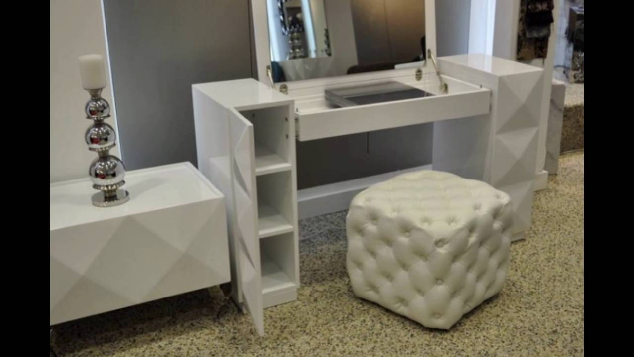 bedroom vanity table and chair - YouTube