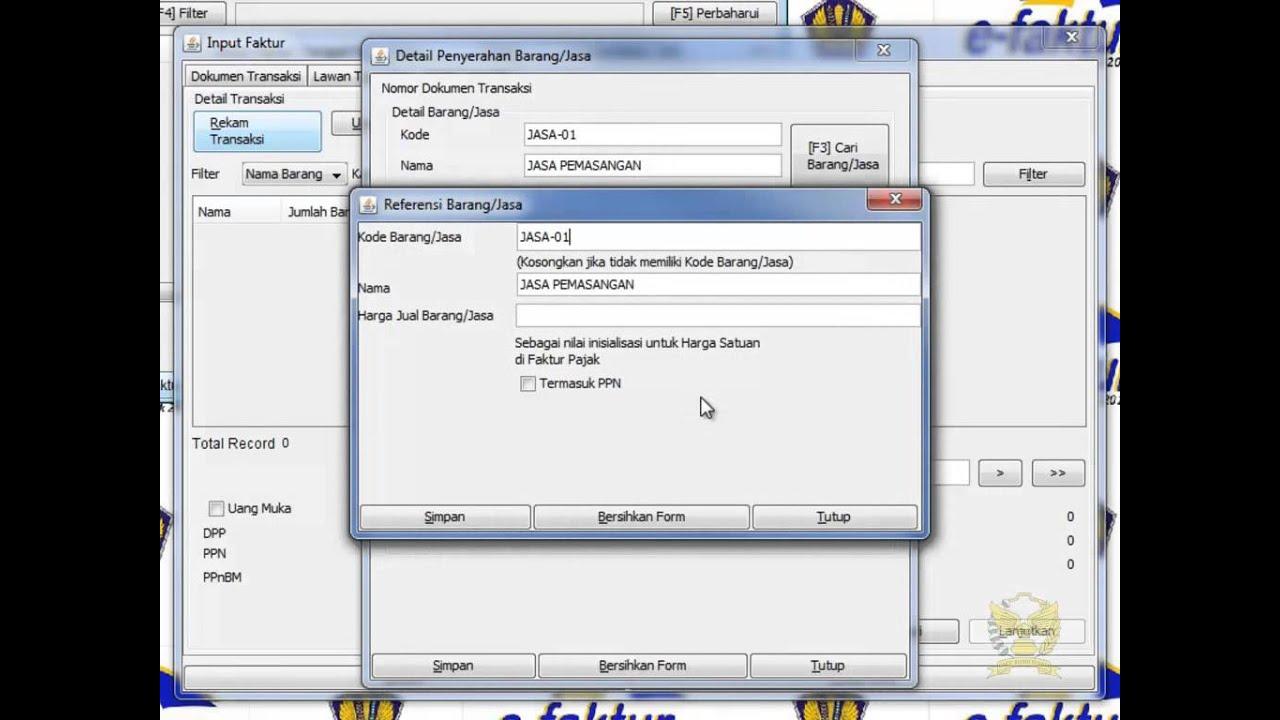 03 Input Faktur Pajak Keluaran di aplikasi e faktur - YouTube