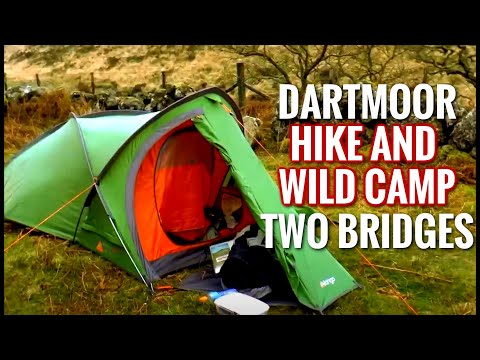 Hike and Wildcamp on Dartmoor - Wistman's Wood / Two Bridges (2 x 3 Tarp Vango Mirage 200)