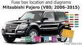 Fuse Box Location And Diagrams Mitsubishi Shogun Montero 2003 2006 Youtube