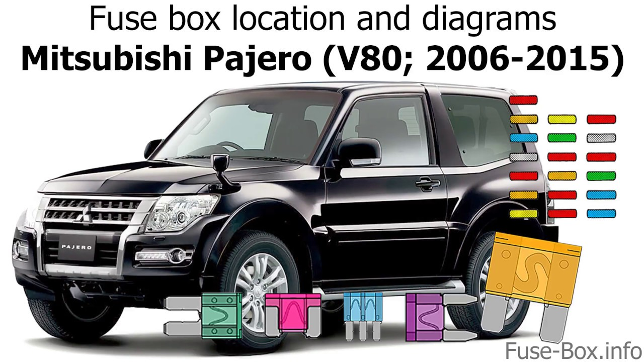 fuse box location and diagrams mitsubishi pajero v80 2006 2015  [ 1280 x 720 Pixel ]
