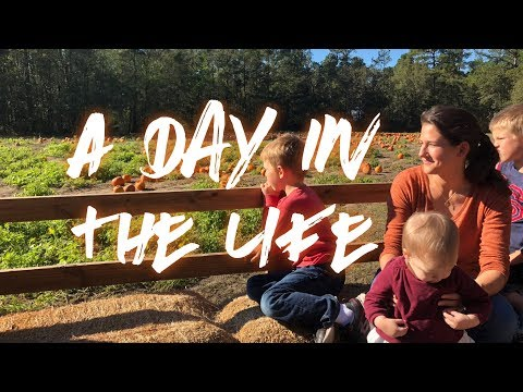 DAY IN THE LIFE || Pumpkins and hayrides || Catholic Mom Vlog