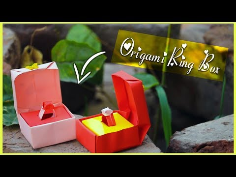 How To Make Origami Paper Ring Box Easy Tutorial