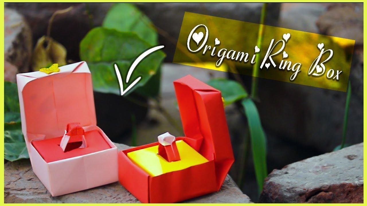 Origami Ring Box Tutorial   Origami ring box, Origami ring ...   720x1280