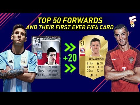 Top 50 Forwards and Their First Ever FIFA Card ⚽ Then and Now ⚽ Footchampion