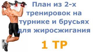 постер к видео План из 2 х тренировок на турнике и брусьях для жиросжигания (1 тр)