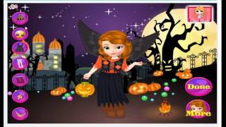 Sofia the First Halloween Cartoon Video Game For Girls
