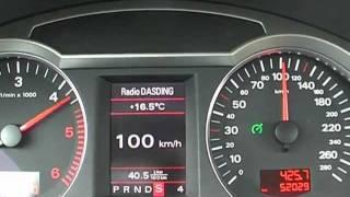 Audi A6 4F Avant 2,7TDI 180hp V6 TDI Multitronic 0-100 Km/h 60-120km/h 0-60 Mph Acceleration