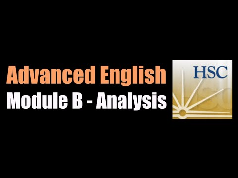 Advanced English Module B - Critical Study of Texts - Analysis